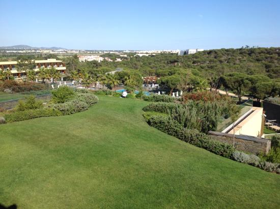 EPIC SANA Algarve Hotel: Chef picking herbs from a roof top garden