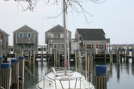 The Cottages at Nantucket Boat Basin: View from our patio porch ..  more choices