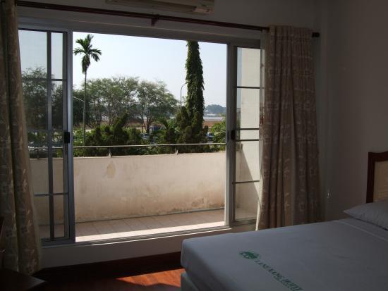Lane Xang Hotel : 部屋から