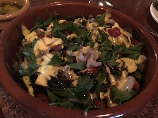 Saffron Mediterranean Kitchen: Cuttlefish salad