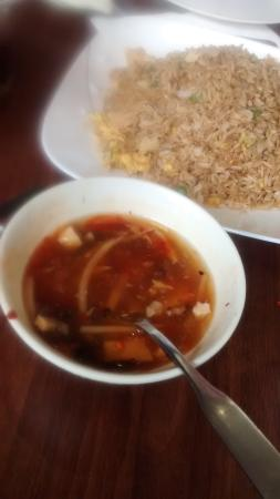 Not Just Noodles: huge fried rice and soup