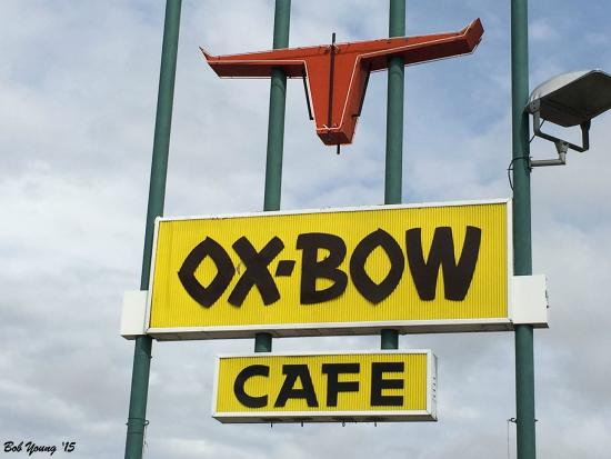 Oxbow Diner: Oxbow Cafe Sign, Bliss, Idaho