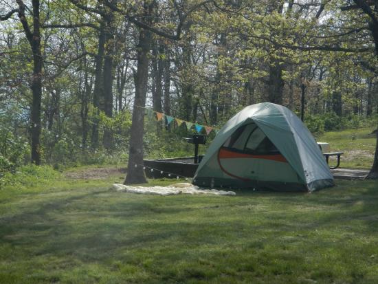 Queen Wilhelmina State Park: our campsite