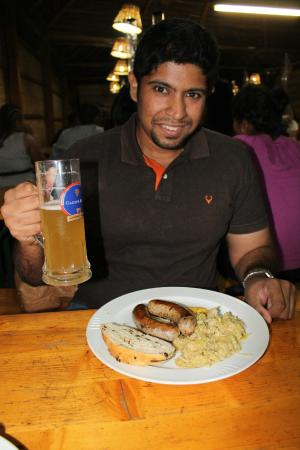 Beer Garden Inn: Me having a complete German food experience at The Beer Garden