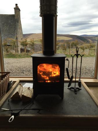 Balneden Steading: Cosy fire