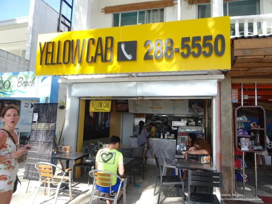 yellow cab front:
