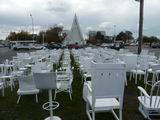 185 Chairs Picture Of 185 Empty White Chairs