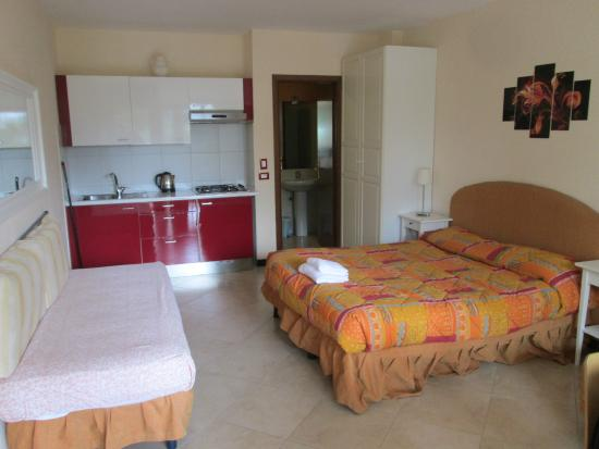 Villa Giada Resort: While a bit dated, the room was quite spacious, with a full kitchen.