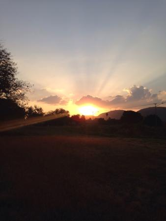 Sunsets at Green Valley lodge