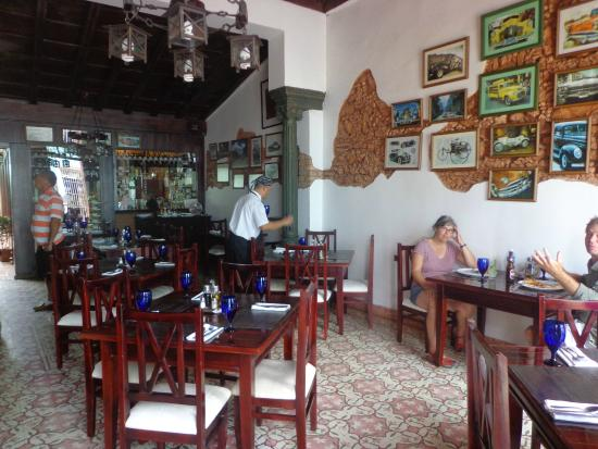Interior of the restaurant at lunch
