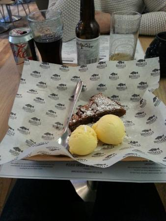 Russell's Fish & Chips: Chocolate orange brownie