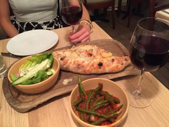 Wildwood Kitchen: Spicy Calzone, French Beans, And House Red...yum