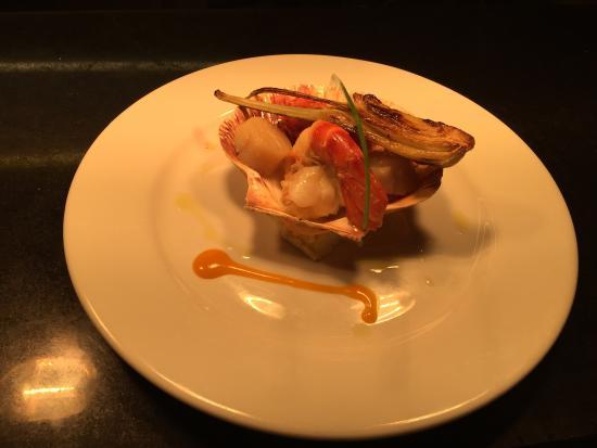 Yummy scallops & juicy tiger prawns at Vita Bella Chelmsford