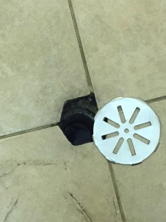 Howard Johnson Inn and Suites Elk Grove Village O'Hare: The Drain that just slides off in the bathroom, revealing hair and gunk in a drain,,,