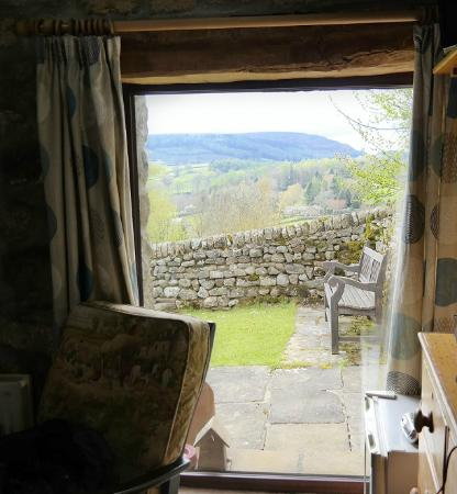 Howgill Holidays Caravan Park and B&B: View from the inside of the cottage