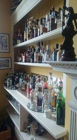 East Bridgford Hill : Well stocked bar area