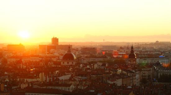 Auberge de Jeunesse de Vieux Lyon: Sonnenaufgang Lyon