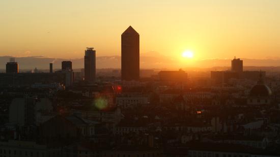 Auberge de Jeunesse de Vieux Lyon: Sonnenaufgang Aussicht Lyon