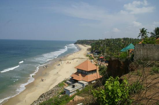 Varkala, India: A general view of the beach and cliff