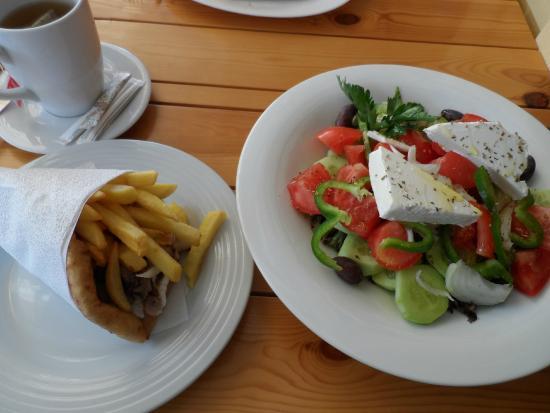 Gyros and Greek Salad