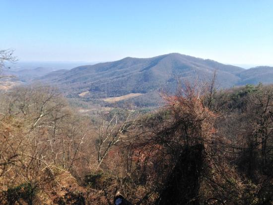 Crozet, Вирджиния: Gibson Mountain overlook (high point of trail)