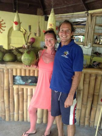 Half Moon Beach: me and Mr Marr, owner