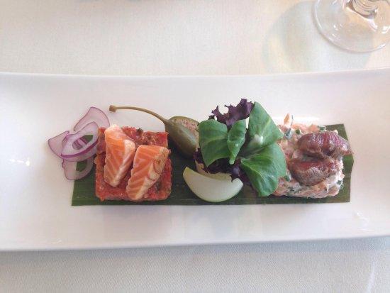 Belcanto: Exquisito Dúo de Steak Tartar y Tartar de Salmón!!