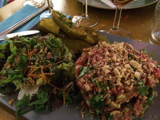 La Kitchenette: Tartare thaï ... Excellent !