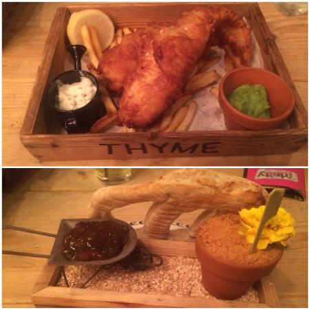 pate and fish and chips picture of the botanist leeds tripadvisor