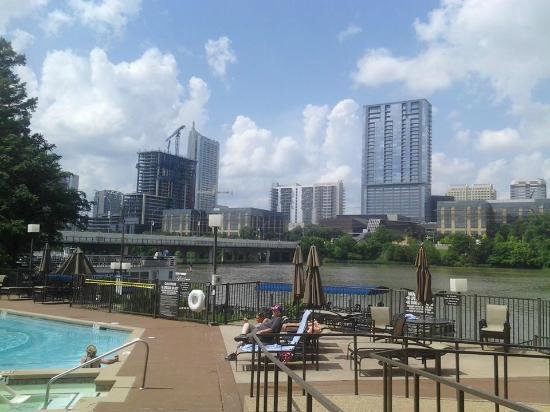 Hyatt Regency Austin Pool Area Is Right Beside The Running Trail