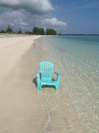 Crooked Island: My reading chair at Tranquility on the Bay