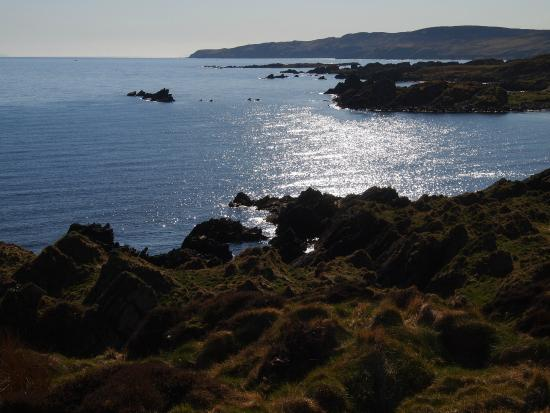 Laphroaig, UK: View from Hill across the Road from the House