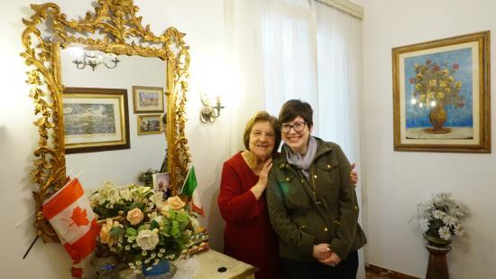 Casa Rabatti: Marcella and my wife.