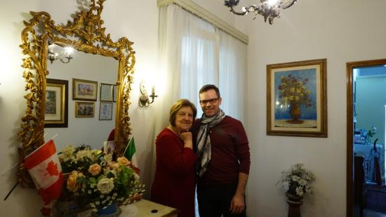 Casa Rabatti: Marcella and me.