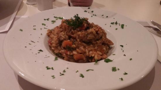 Franca Scala : Linguine de veau et risotto de champignon