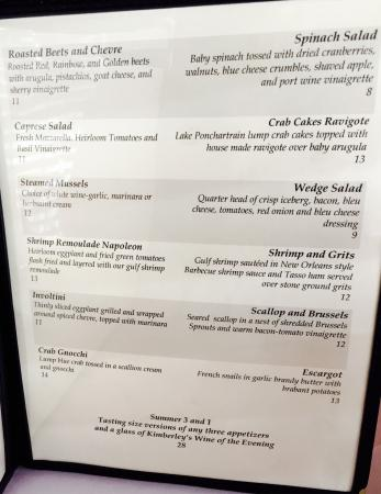 Christopher's on Carey: Menu 1