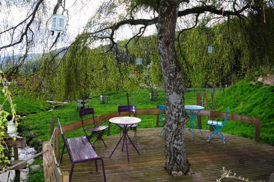 Chez Jeanmyvonne : petite terrasse ombragée