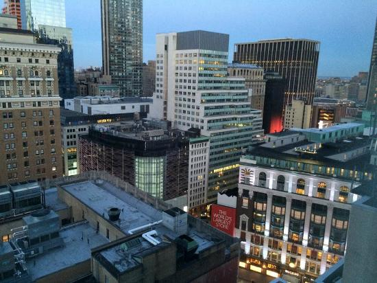 A room with a city view 19th floor here picture of - Hilton garden inn new york west 35th street ...