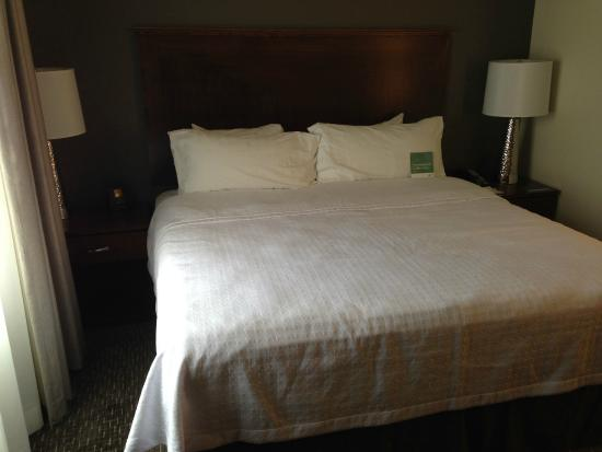 "Homewood Suites by Hilton Phoenix North - Happy Valley: The bed in the ""king bed studio suite."""