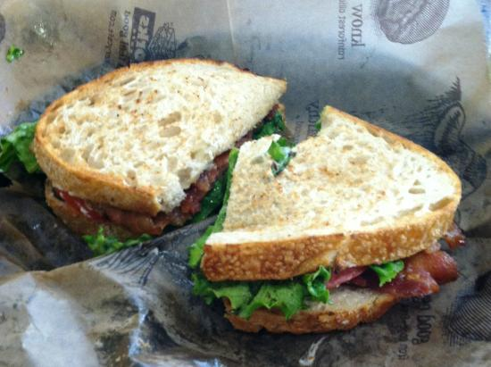 The Works Bakery Cafe: BLT on Sour Dough Bread