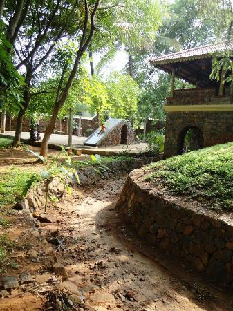 Angana Country Inn: The Nala that runs through the Property