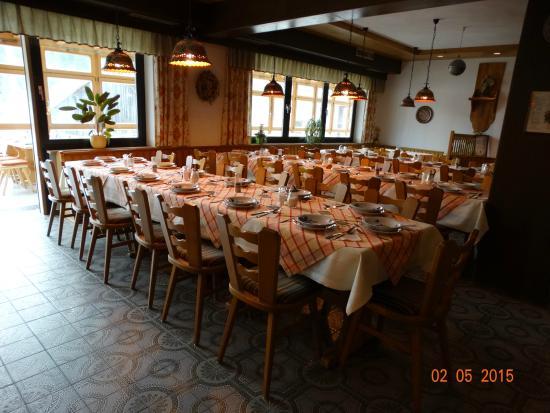 Hotel Heckl: Ontbijt en diner , is op de eerste etage