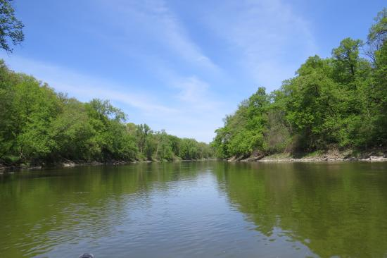 BentRiver Outfitter : View of the river from our canoe.