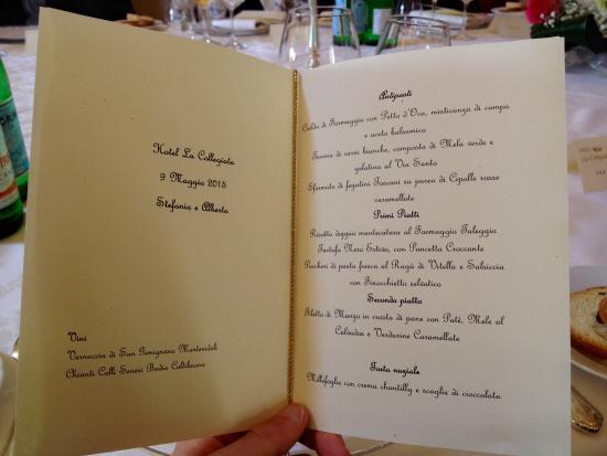 Menu Matrimonio Toscana : Matrimonio menù foto di hotel la collegiata san