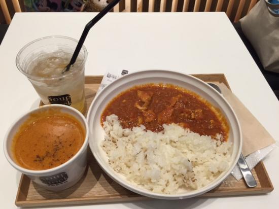 Soup Stock Tokyo: 濃蝦湯配咖哩飯
