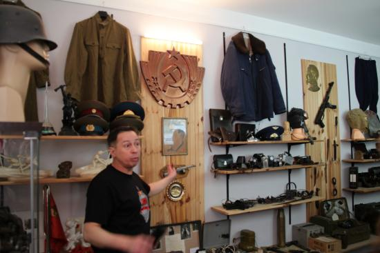 Музей КГБ: Our host describing the many artifacts in detail
