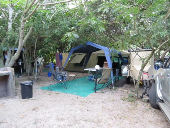 A Day in Africa Lodge: Camp site