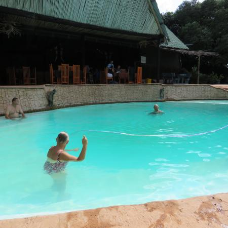 A Day in Africa Lodge: The amazing pool on a hot day