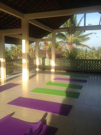 Ubud Sari Health Resort: 7.30 daily yoga and meditation