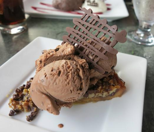 Marzano's Trattoria: the chocolate walnut torta with chocolate gelato